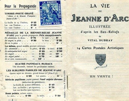 Marcel MARRON éditeur de cartes postales et Jeanne d'Arc dans Cartophilie La-vie-de-Jeanne-dArc