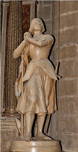Statue-de-Jeanne-dArc-par-Desvergnes dans Cartophilie