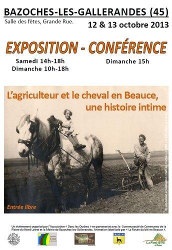 Exposition-conférence : L'agriculteur et le cheval en Beauce, une histoire intime. dans Divers affiche