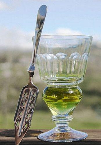 Absinthe verre et cuillère